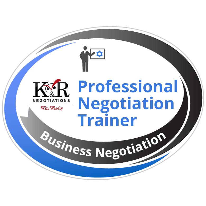 Professional Negotiation Trainer Badge