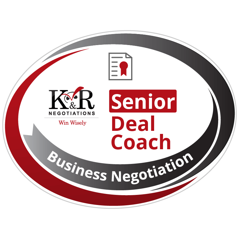 Negotiation Senior Deal Coach Badge