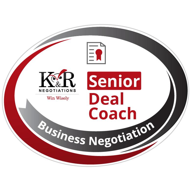 Negotiation Senior Deal Coach Badge