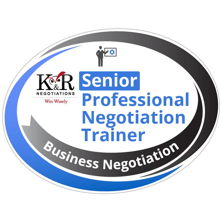 Senior Professional Negotiation Trainer Badge